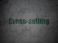 Finance concept: Cross-Selling on grunge wall background - stock illustration
