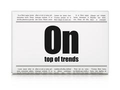Business concept: newspaper headline On Top of trends - stock illustration