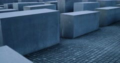 4K, Memorial to the Murdered Jews of Europe, Berlin Stock Footage