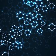Molecule DNA glowing. Abstract background Stock Illustration