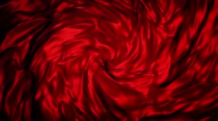 Abstract mass in red color flow in spiral Stock Footage