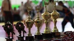 Judo competition Stock Footage