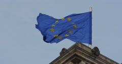 4K, Reichstag European Flag, CloseUp, Berlin Stock Footage