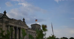 4K, Reichstag Building, Side View Fast Pan, Berlin Stock Footage