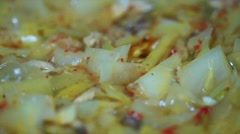 Delicious cabbage with meat Stock Footage