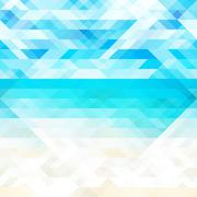 Summer abstract geometric background Stock Illustration