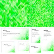 green background plus banner - stock illustration