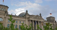 4K, Reichstag Building, Side View, Berlin Stock Footage