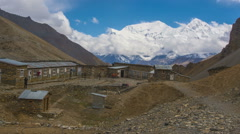 Annapurna Mountains View From High Camp - stock footage