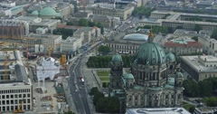 4K, View From Berlin TV Tower, Berlin Dome Stock Footage
