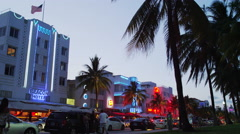 South Beach Famous Buildings Hotels Miami Florida 5K Stock Video Footage Stock Footage