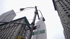 31st st and 5th Ave with Empire State Building street view NYC 1080 HD - stock footage