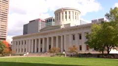 Statehouse Columbus Ohio Stock Footage