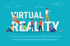 Virtual reality concept illustration Stock Illustration