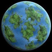Green Planetgreen planet similar to earth 3D illustration Stock Illustration