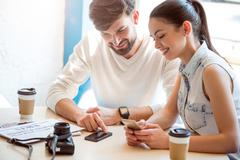 Modern gadgets in our life Stock Photos