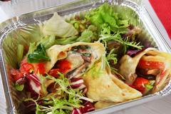 Healthy food, lunch in box, diet concept - stock photo