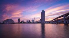 Port of Kobe, Japan skyline Time Lapse Stock Footage
