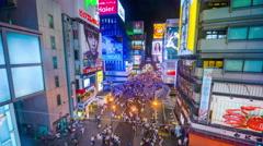 Osaka Japan Dotonbori Stock Footage