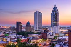 Mobile, Alabama Skyline Stock Photos