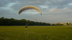 Paraglider testing Stock Footage