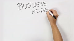 Business Model intro video Stock Footage