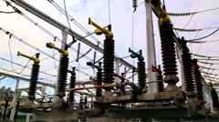 High voltage disconnector Stock Footage