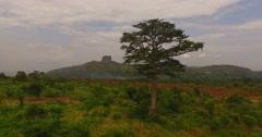 Africa Aerial savana down 4K Stock Footage