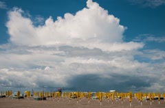 A view of Grado beach Stock Footage