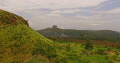 Africa Aerial savana hill 4K Stock Footage