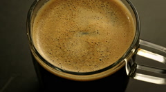 Making Fresh Coffee from a Coffee Espresso Machine Stock Footage