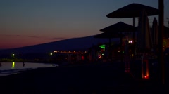 Beach sunset in Greece Stock Footage