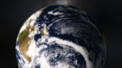 Planet Earth Timelapse Showing the Southern Hemisphere and the Aurora Borealis Stock Footage