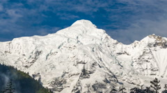 Mountain View From Annapurna Circuit Trail - stock footage