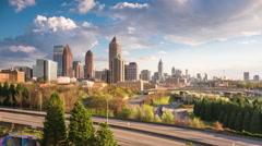 Atlanta, Georgia Downtown Skyline Time Lapse. Arkistovideo