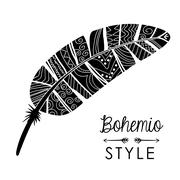 Bohemio design. Spirit  concept. Flat illustration , vector Stock Illustration