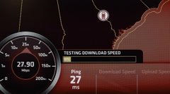 Internet Speed Test On Bandwidth Stock Footage