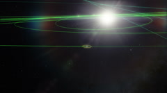 Earth and Moon Diagram Revolving Around the Sun - stock footage