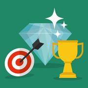 Achievement design. Success icon. Colorful design  , vector - stock illustration