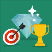 Achievement design. Success icon. Colorful design  , vector Stock Illustration