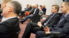 Business people attending a seminar. Stock Footage