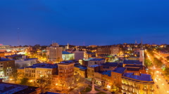 Macon, Georgia Skyline Time Lapse From Day to Night Stock Footage