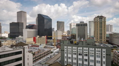 New Orleans, Louisiana Downtown Skyline Time Lapse Stock Footage