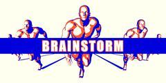 Brainstorm - stock illustration