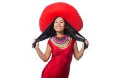 Mexican woman in fashion concept - stock photo
