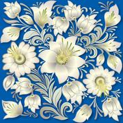 abstract vintage floral ornament - stock illustration