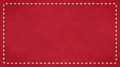 Frame Dashes Border Paper Texture Animated Red Background Stock Footage