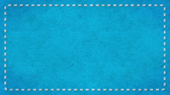 Frame Dashes Border Paper Texture Animated Blue Background Stock Footage