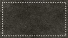 Frame Dashes Border Paper Texture Animated Dark Ashen Background Stock Footage