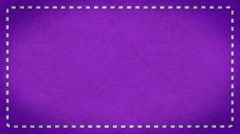Frame Dashes Border Paper Texture Animated Purple Background Stock Footage